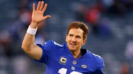Giants quarterback Eli Manning after defeating the Kansas City