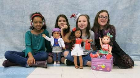 Kidsday reporters, from left, Christina Bacchi wearing Gabriela