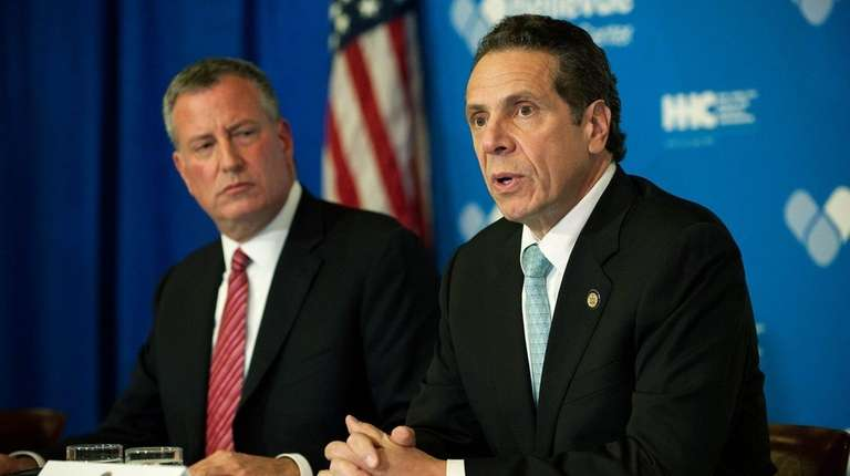 Mayor Bill de Blasio and Gov. Andrew Cuomo