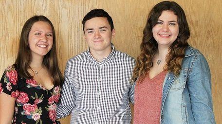 From left, Sayville High School students Dea Ahlgrim,