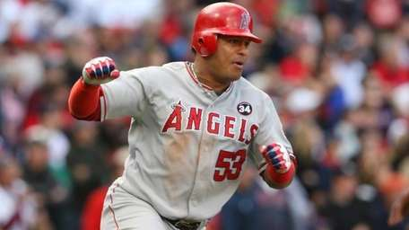 Bobby Abreu #53 of the Los Angeles Angels