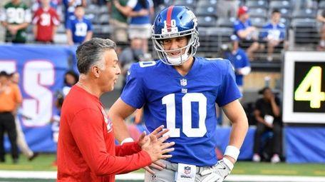 Giants offensive coordinator Mike Sullivan is upset about
