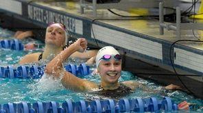 Chloe Stepanek is pumped after winning the