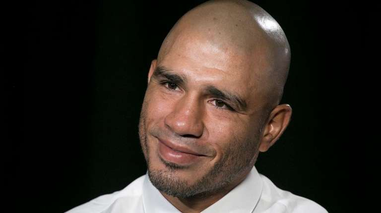 Miguel Cotto talks during an interview, Tuesday, Oct.