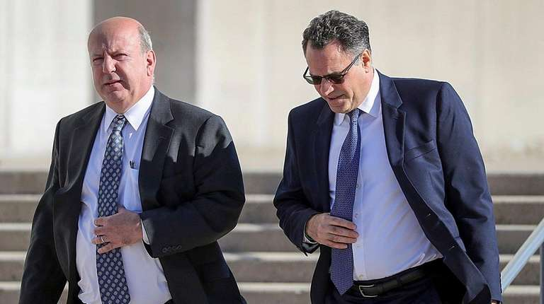 Christopher McPartland, left, and his attorney, Larry Krantz,