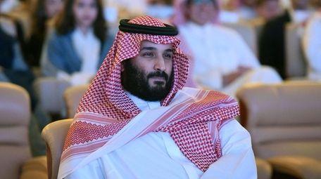 Saudi Crown Prince Mohammed bin Salman attends the