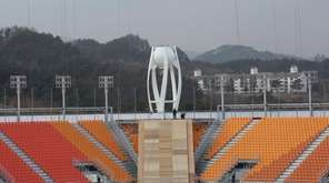 The Olympic stadium in Pyeongchang, South Korea, on