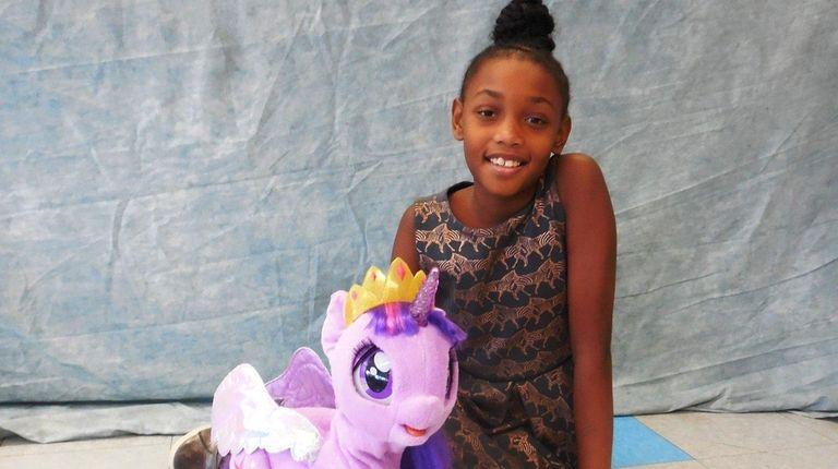 Kidsday reporter Naella Jeudy with My Magical Princess