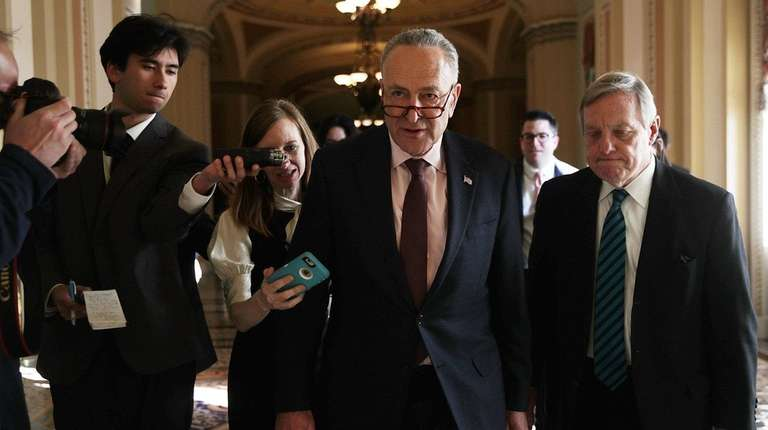 Senate Minority Leader Sen. Chuck Schumer (D-N.Y.) speaks