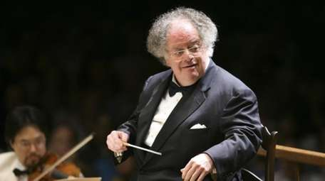 Boston Symphony Orchestra music director James Levine conducts