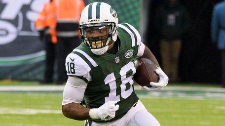 Jets wide receiver ArDarius Stewart looks up field