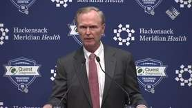 Giants owner John Mara addresses members of the