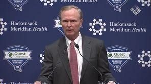 Giants owner John Mara addresses members of the