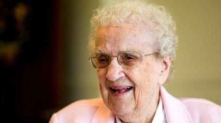 Sister Grace Regina Wingenfeld, then 105, is pictured