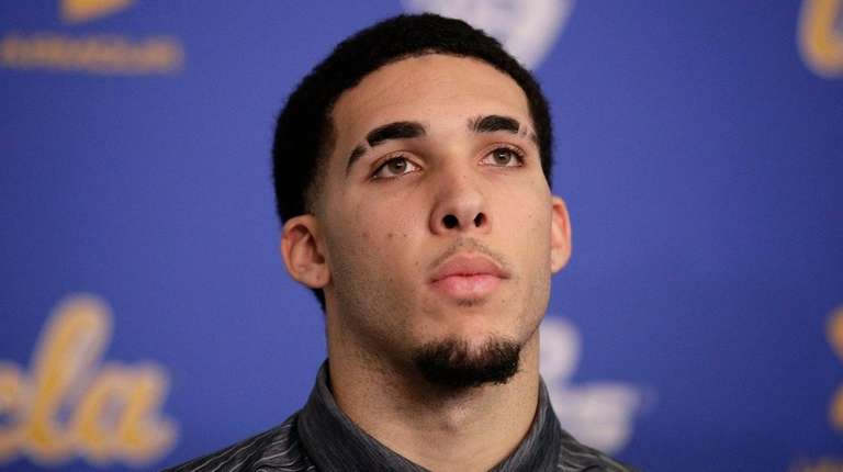 LiAngelo Ball attends a news conference at UCLA