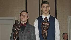 Co-Hansen Award winners Dylan Laube of Westhampton, left,