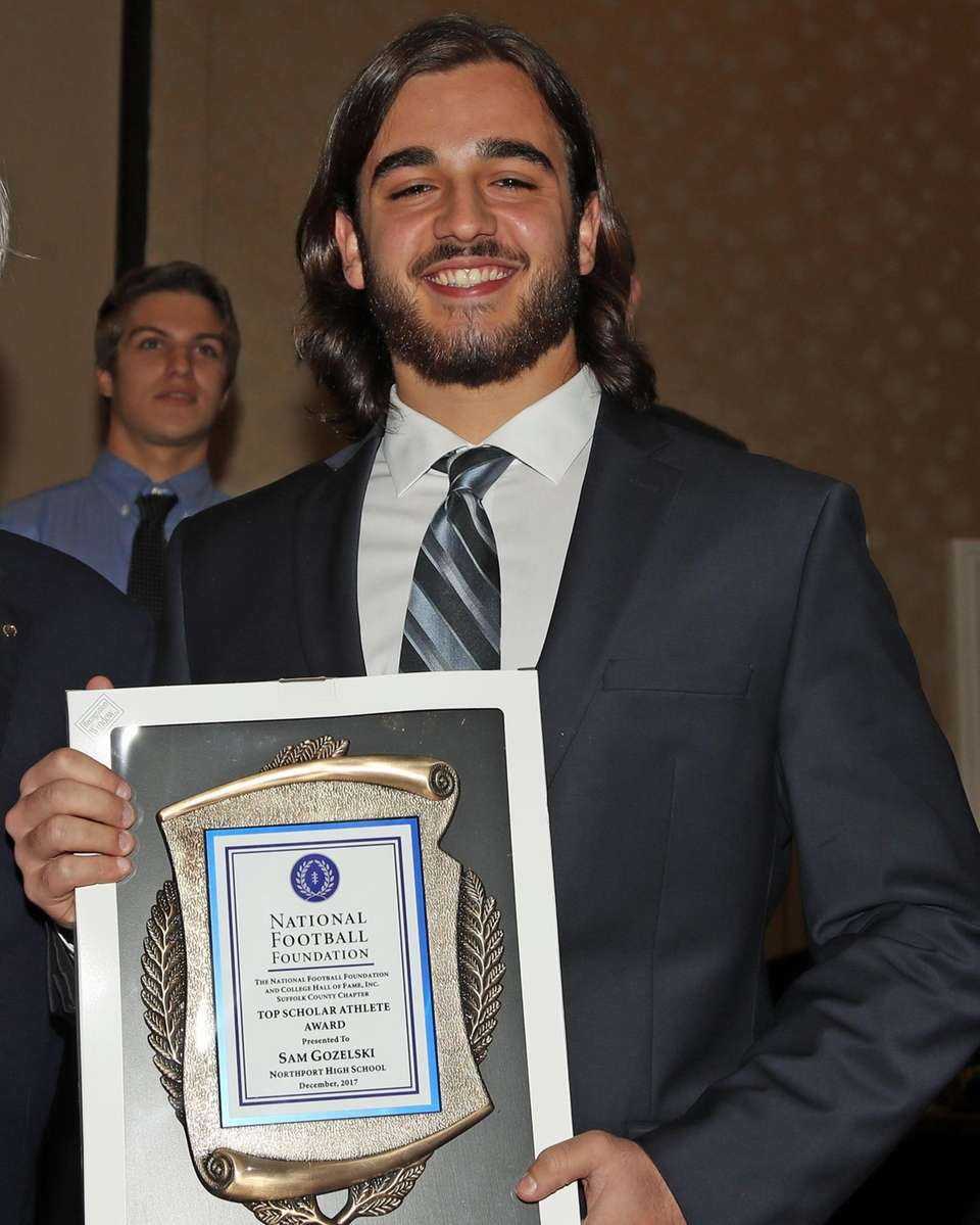 National Football Foundation Scholar-Athlete award winner Sam Gozelski