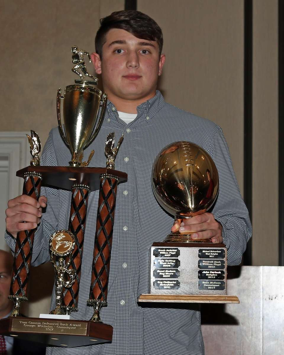 Tom Cassese Defensive Back Award winner George Wichelns