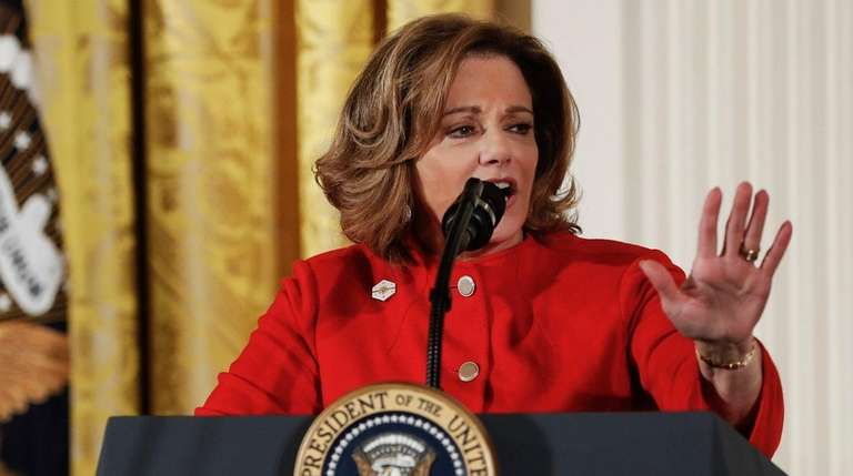 Then-Deputy National Security Adviser K.T. McFarland speaks at
