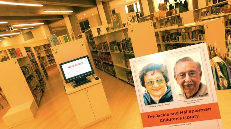 The Jackie and Hal Spielman Children's Library inside
