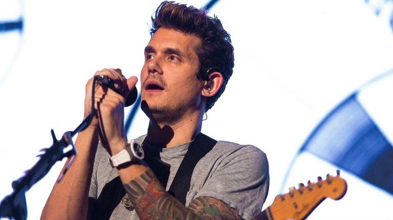 John Mayer performs at Jones Beach on Aug.