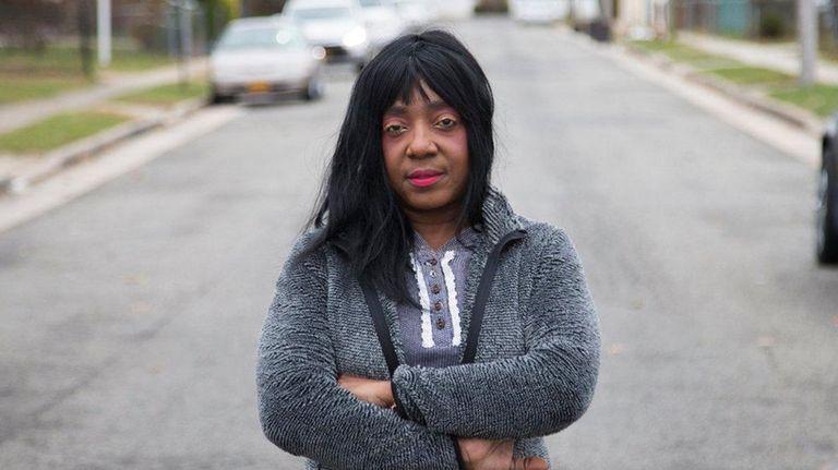 Sophia Ferguson stands on Mason Street on Tuesday,