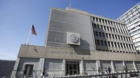 The U.S. Embassy in Tel Aviv, seen in