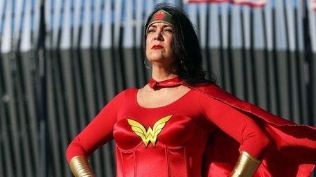 Angela Lisa of East Norwich cosplays as Wonder