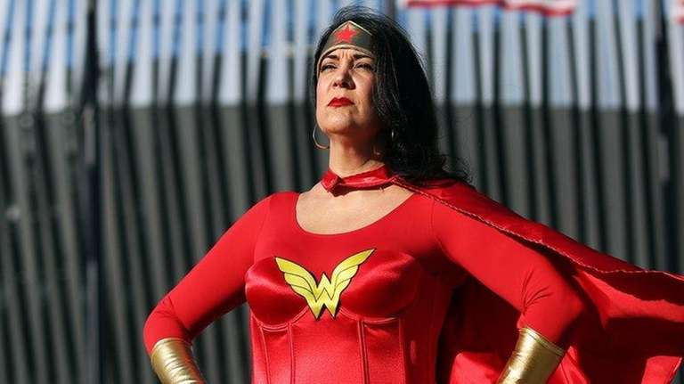 Angela Lisa of East Norwich cosplays as Wonder