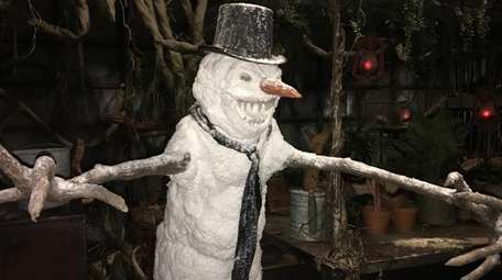 Encounter a creepy snowman at Bayville Haunted Christmas