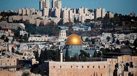 President Donald Trump on Monday recognized Jerusalem, above