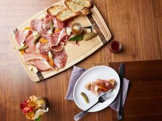 Charcuterie is among the appetizers at Crown Gastropub,