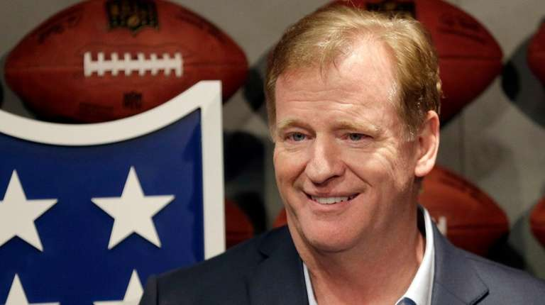 NFL commissioner Roger Goodell poses for a picture