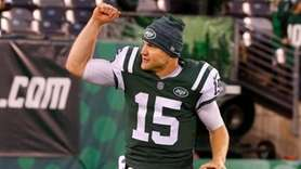 Jets quarterback Josh McCown spoke to the media
