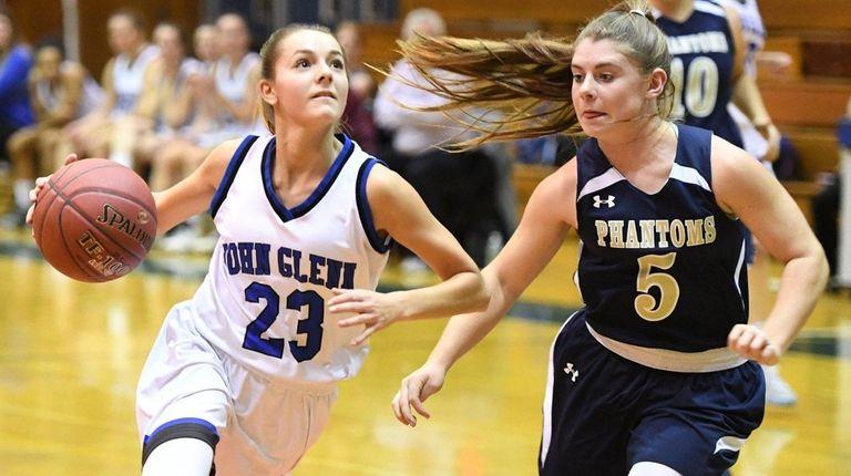 Glenn's Alyssa Adomaites drives to the basket as