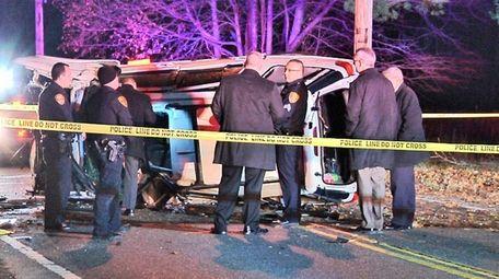 Suffolk County police respond to a fatal crash