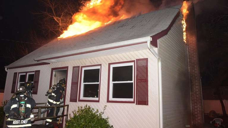 Firefighters responded to a house fire on Poplar