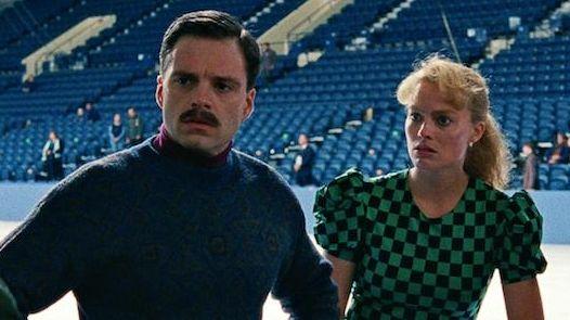 Sebastian Stan and Margot Robbie, center, are husband