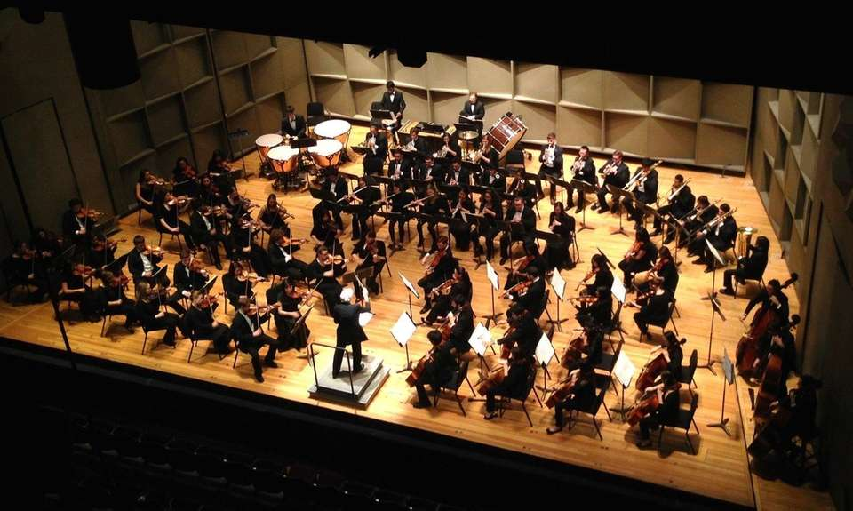 The University Orchestra, a 70-member all-student ensemble of