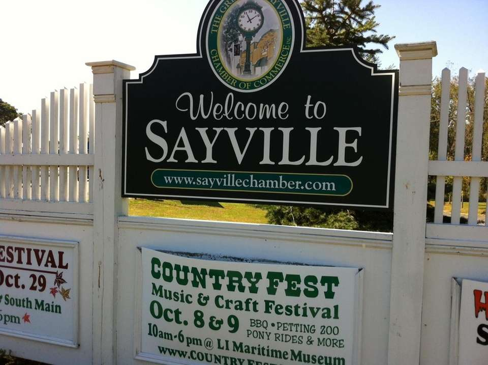 Sayville was intended to be called