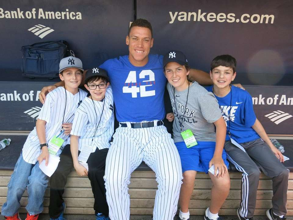 Yankees outfielder Aaron Judge met with Kidsday reporters