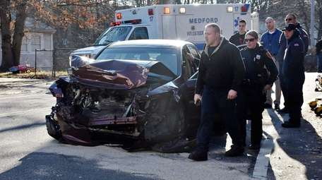 Emergency personnel respond to a crash on Granny