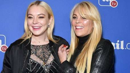 Lindsay Lohan and her mother Dina Lohan attend