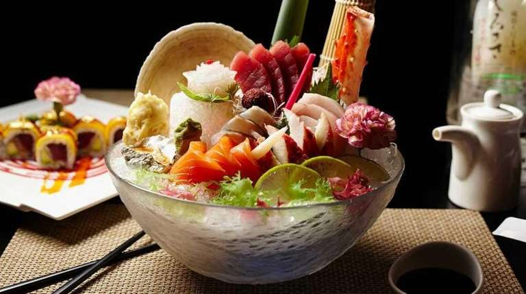 The chef's choice, or omakase, of sashimi and