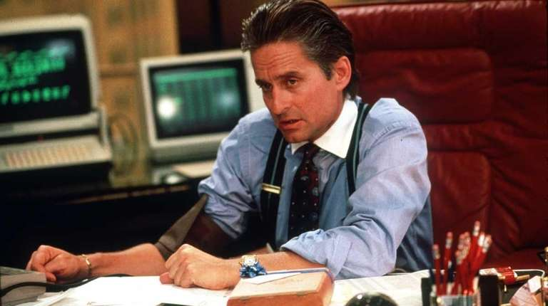 Michael Douglas as slimy Gordon Gekko 1987's
