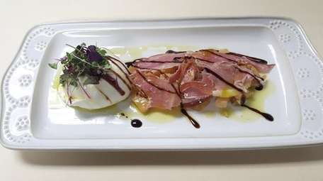 The burrata and prosciutto appetizer at the newly