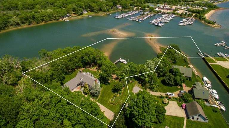 The Southold property is on 1.4 acres and