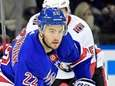 Rangers' Kevin Shattenkirk carries the puck out of