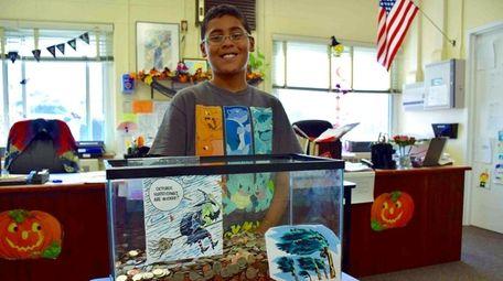Santi Pérez organized hurricane-relief efforts at his school.