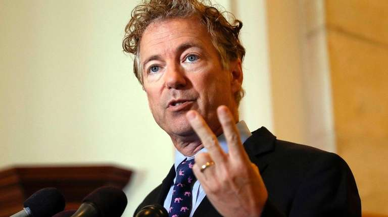 Sen. Rand Paul, R-Ky., speaks during a news